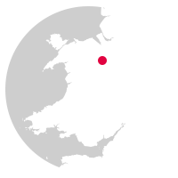 Overview map showing location of the Chester-Shrewsbury Line