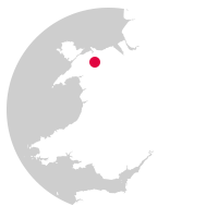 Overview map showing location of the Conwy Valley Line