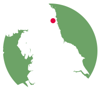 Overview map showing location of the East Coast Main Line
