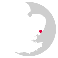 Overview map showing location of the Ipswich to Felixstowe Line