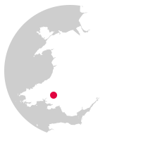 Overview map showing Heart of Wales Line location