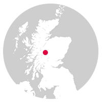 Overview map showing location of the Highland Line