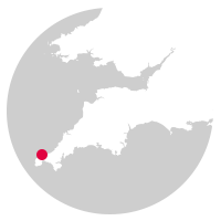 Overview map showing location of the St Ives Bay Line