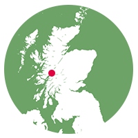 Overview map showing West Highland Line location