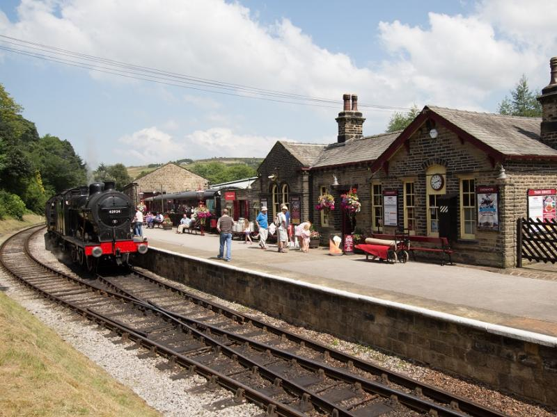 Oxenhope Station along the Keighley & Worth Valley Railway