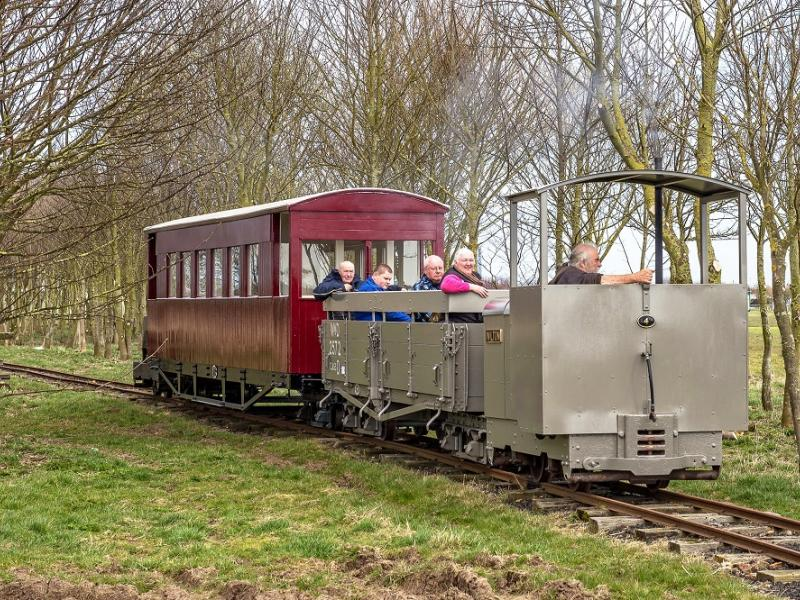 Having fun on the Lincolnshire Coast Light Railway at Skegness