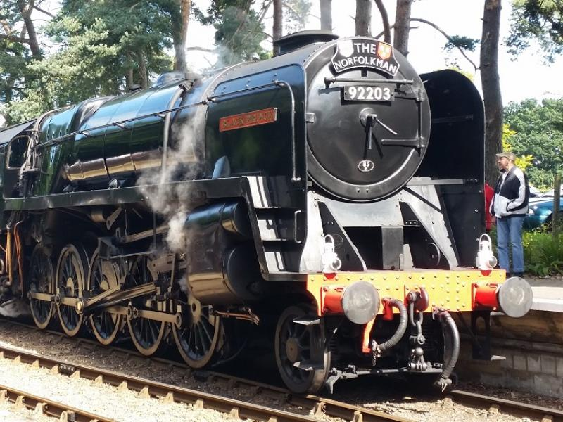The Black Prince steam train at Holt Station along the North Norfolk Railway