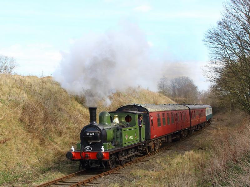 Steam Train on the Wensleydale Railway