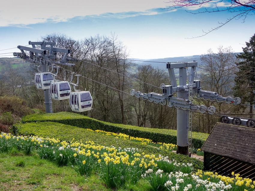 Days out by scenic rail in Derbyshire Derwent Valley Cable Cars
