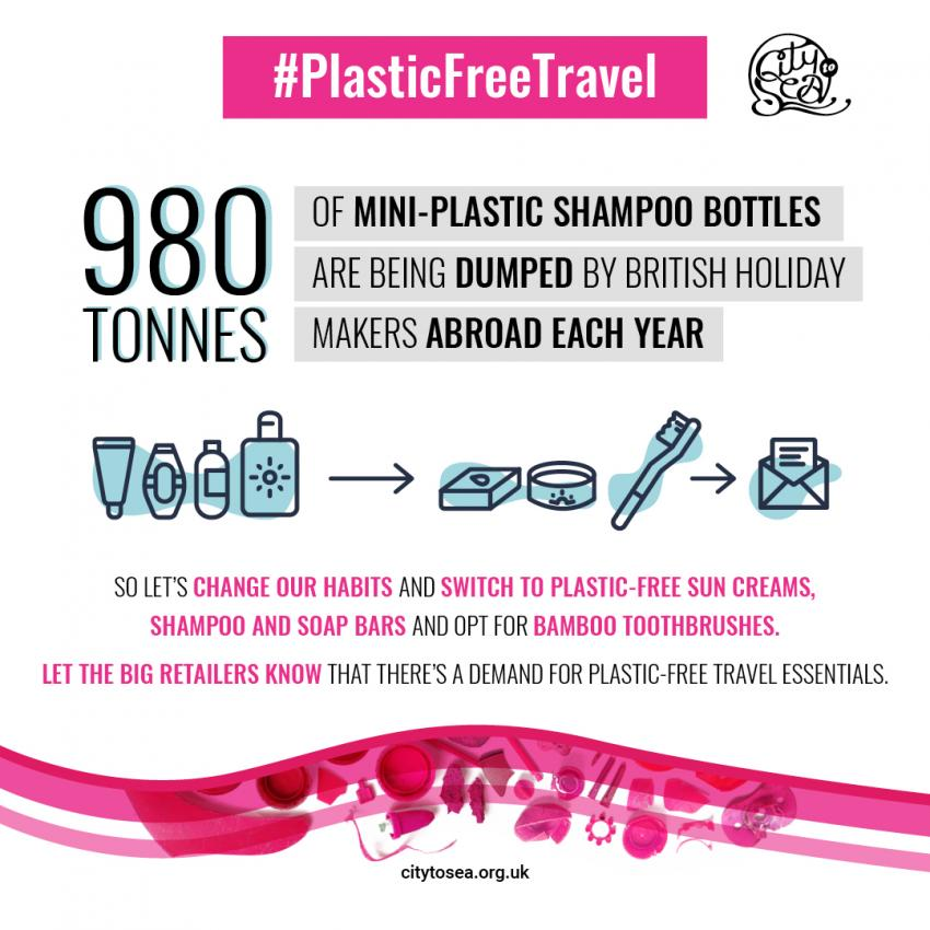 980 tonnes of mini plstic shampoo bottles are dumped every year