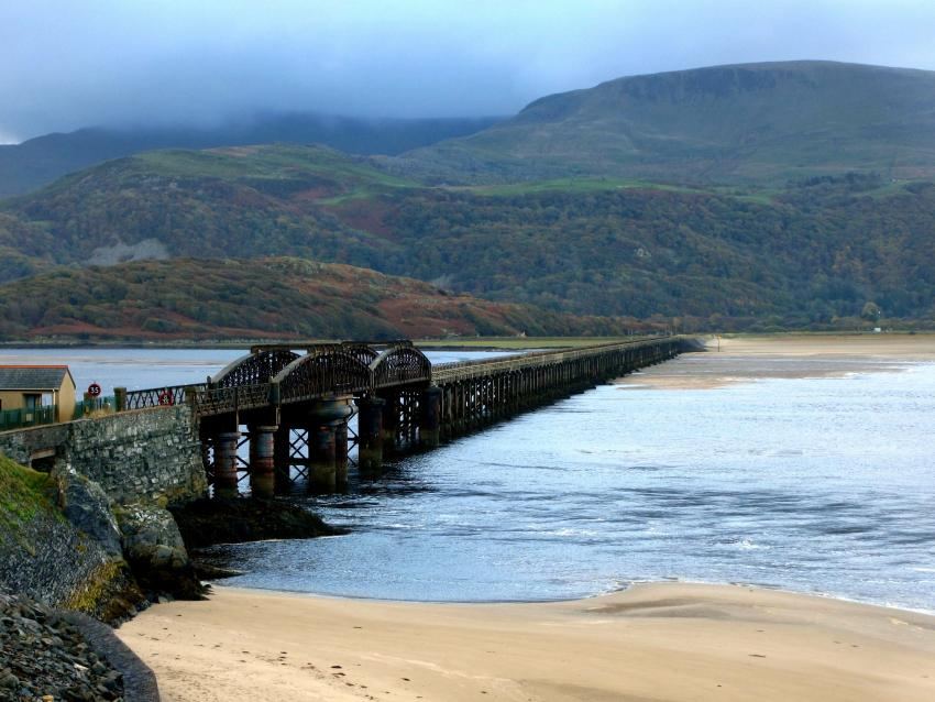 Welsh coast Barmouth Bridge days out by rail