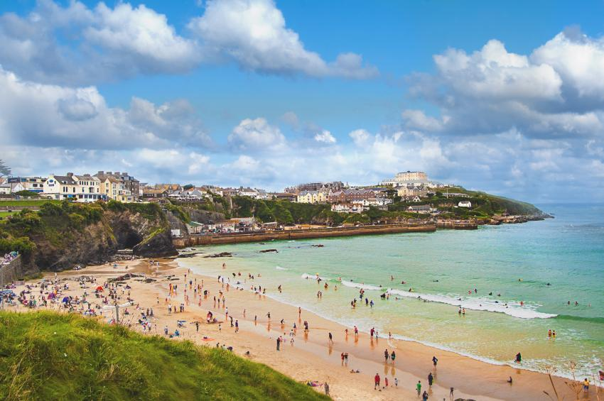Beach at Newquay, Cornwall