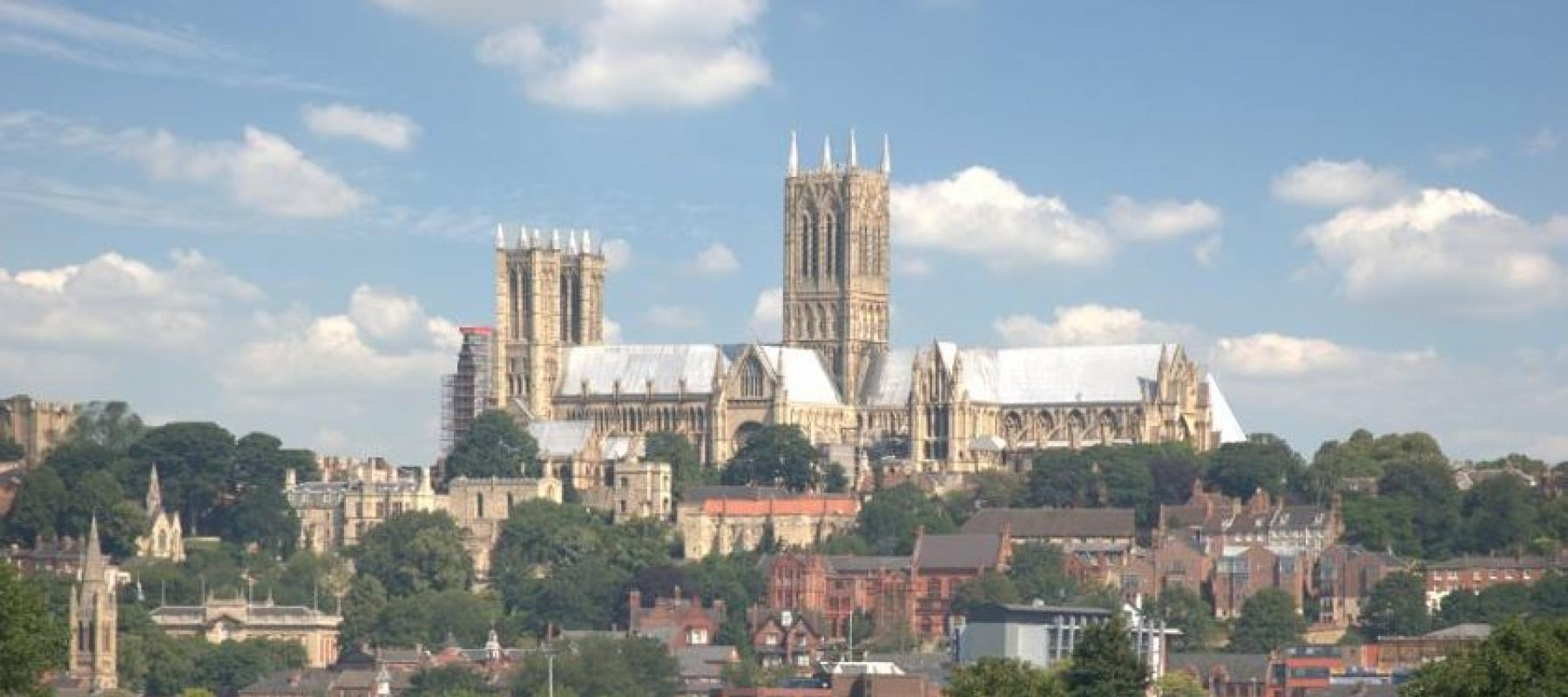 THe impressive Lincoln Cathedral