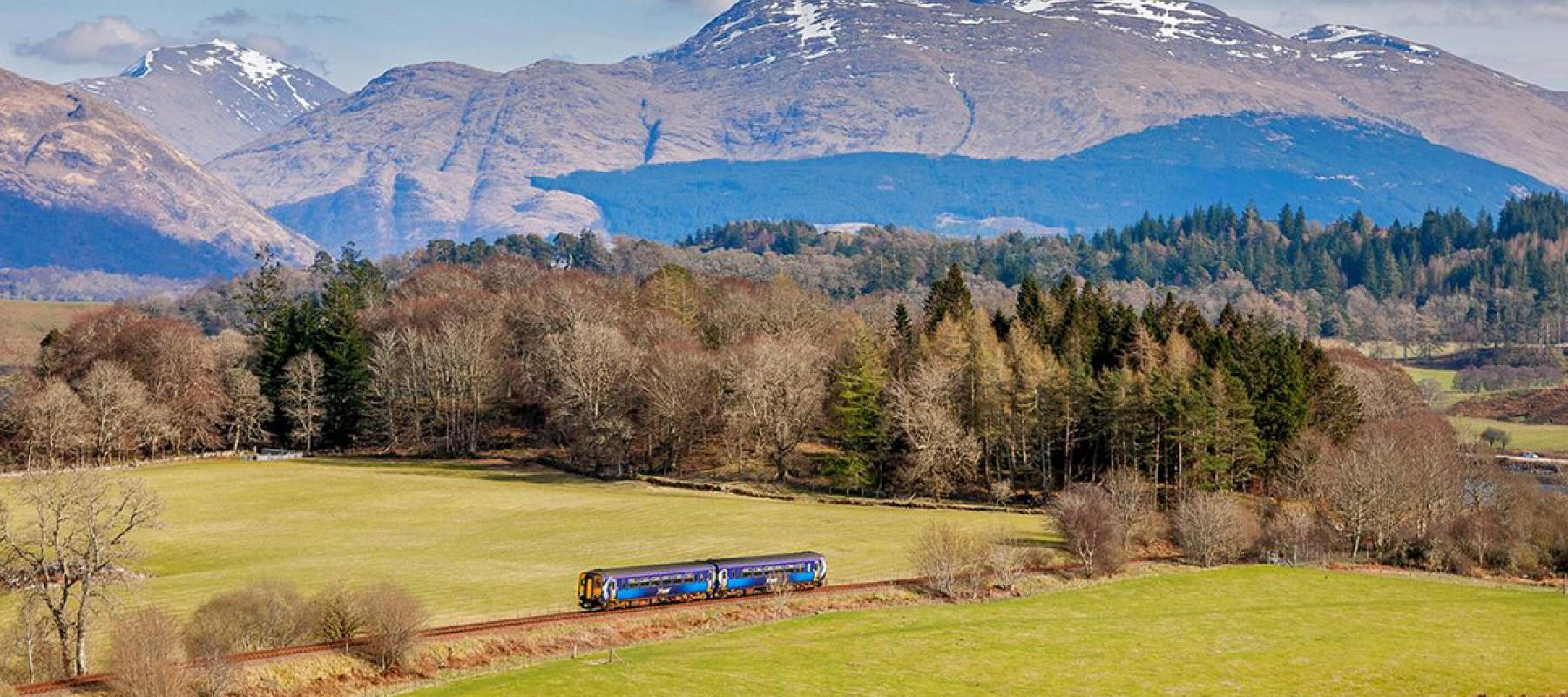 Train on the West Highland Line