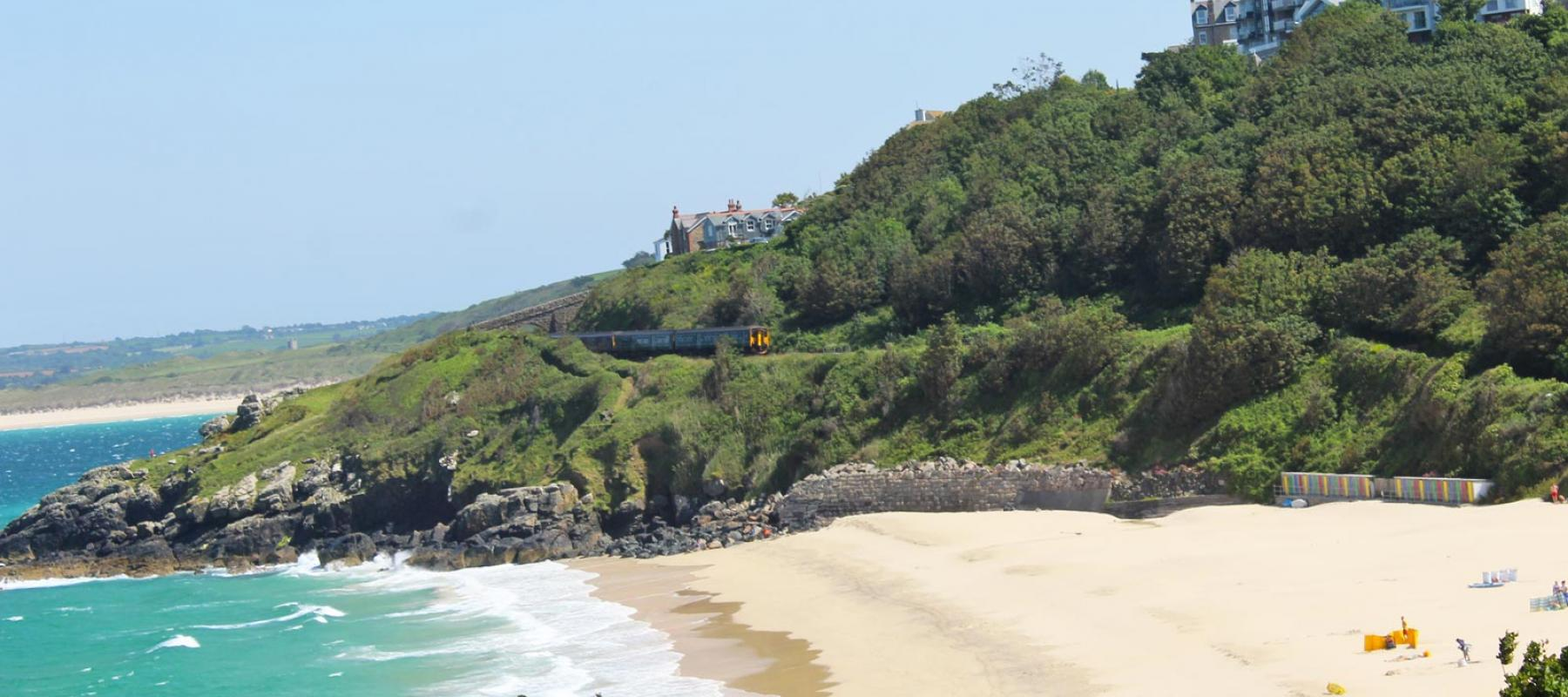 GWR train on St Ives Bay Line