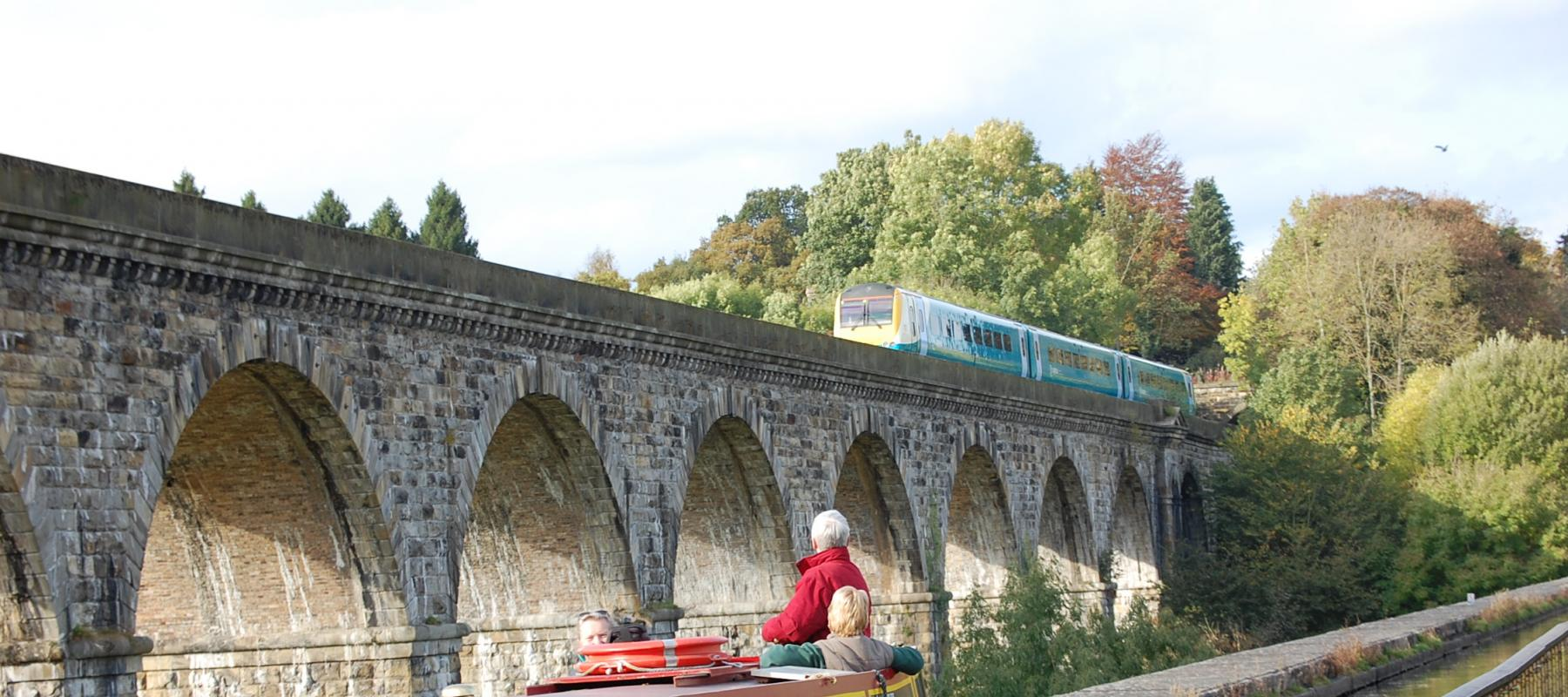 The Chirk Aqueduct and Viaduct on the Chester-Shrewsbury Line