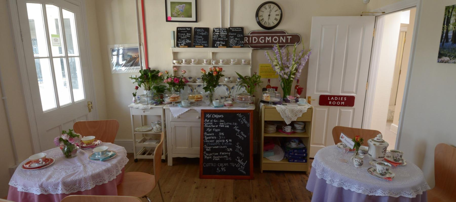 Inside the Tea Rooms at Ridgemont Station, along the Marston Vale Line
