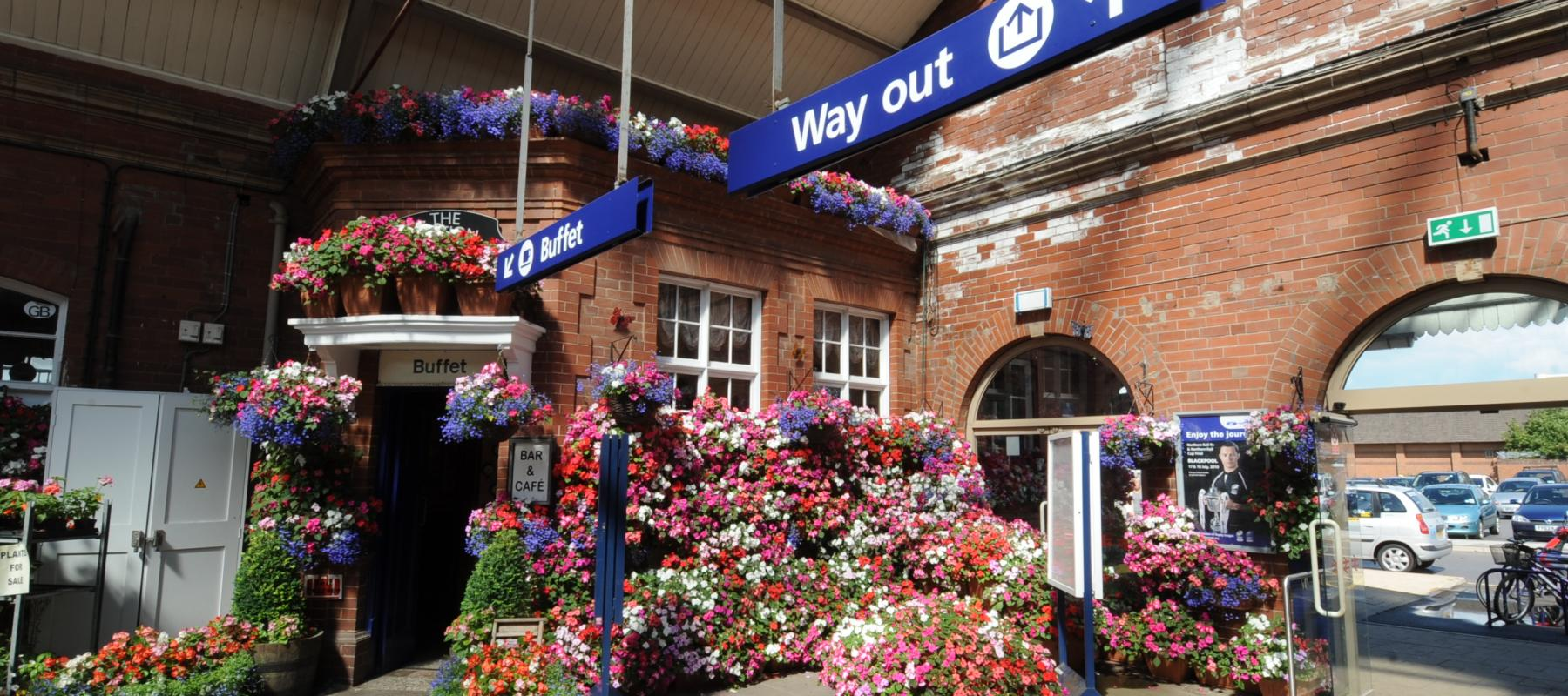 Bridlington Station Flower Display, along the Yorkshire Wolds Coast Line