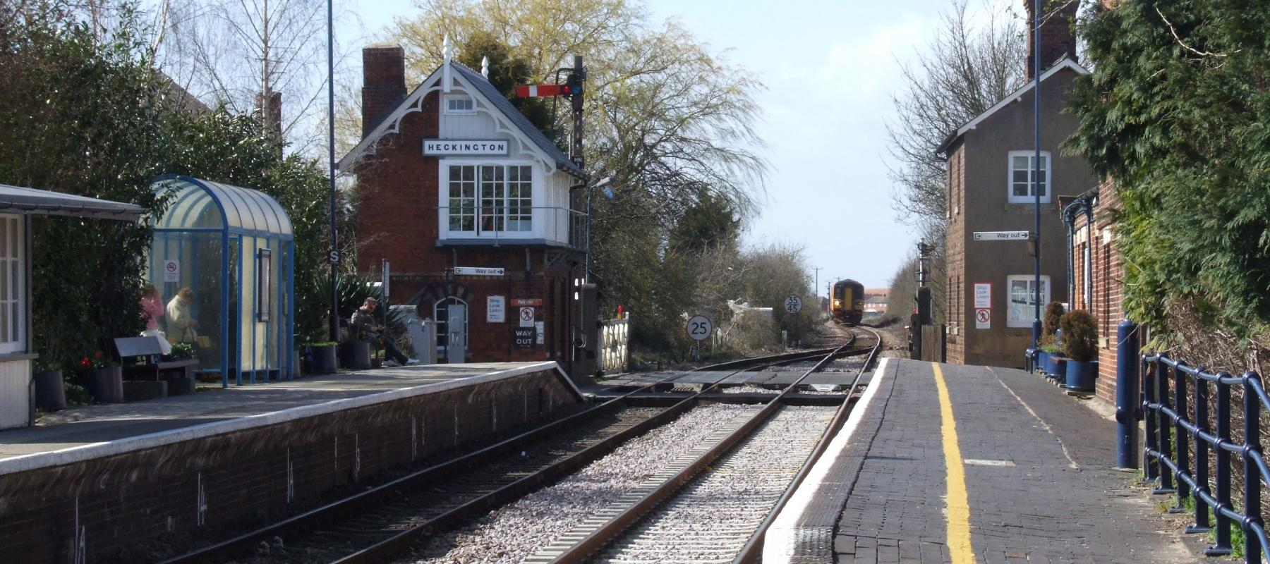 Heckington Railway Station along the Poacher Line. Midlands UK.