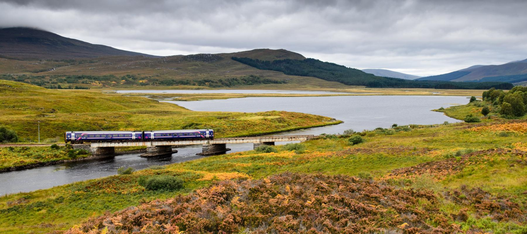Stunning scenery along the Inverness to Kyle of Lochalsh line.