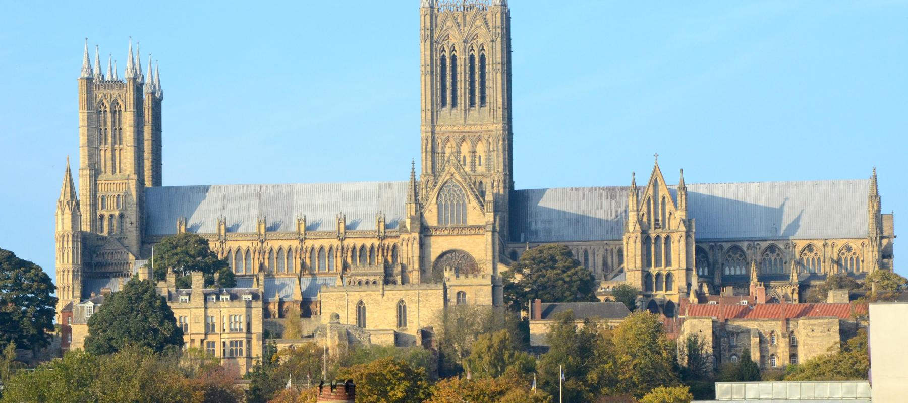 Marvel at the stunning Lincoln Cathedral within easy reach of the Pilgrim Line