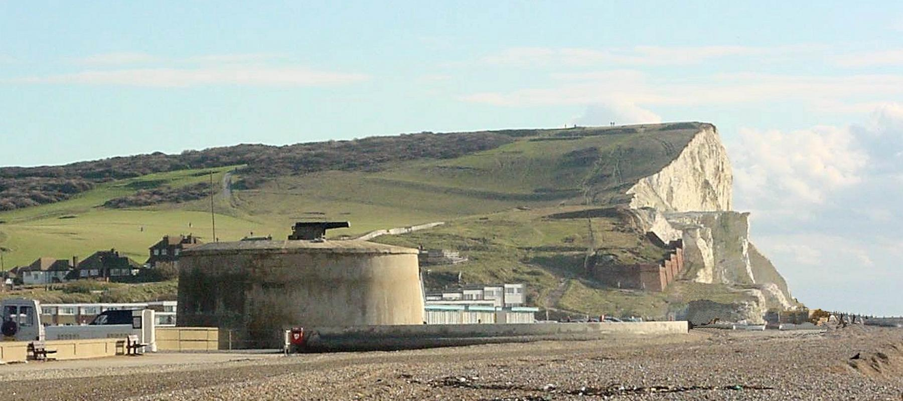 Martello Tower at Seaford seafront