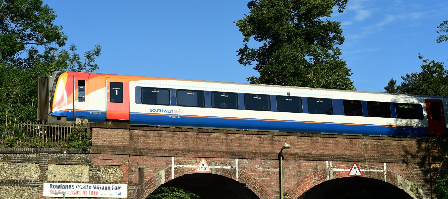 A South West Train travelling along the East Hampshire Line