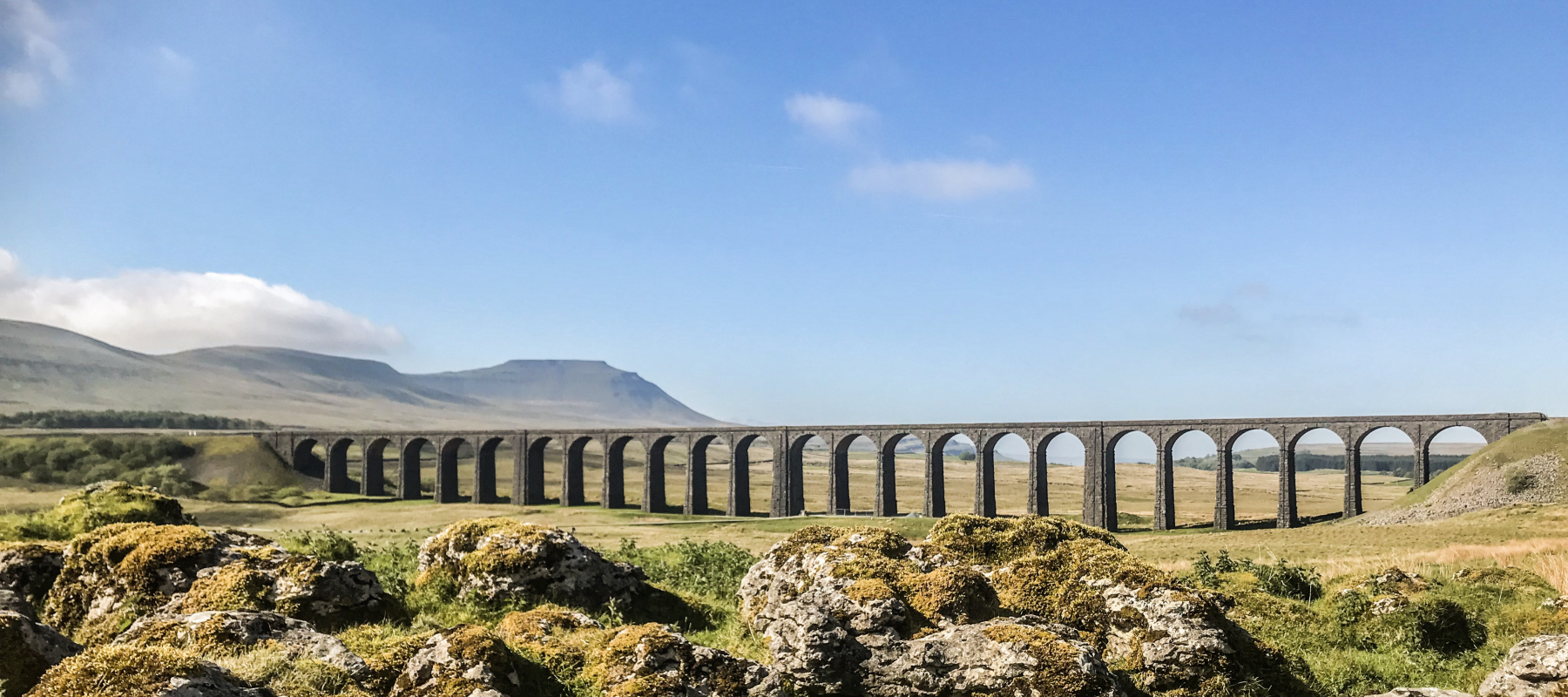 The impressive Yorkshire Dales and Ribblehead Viaduct