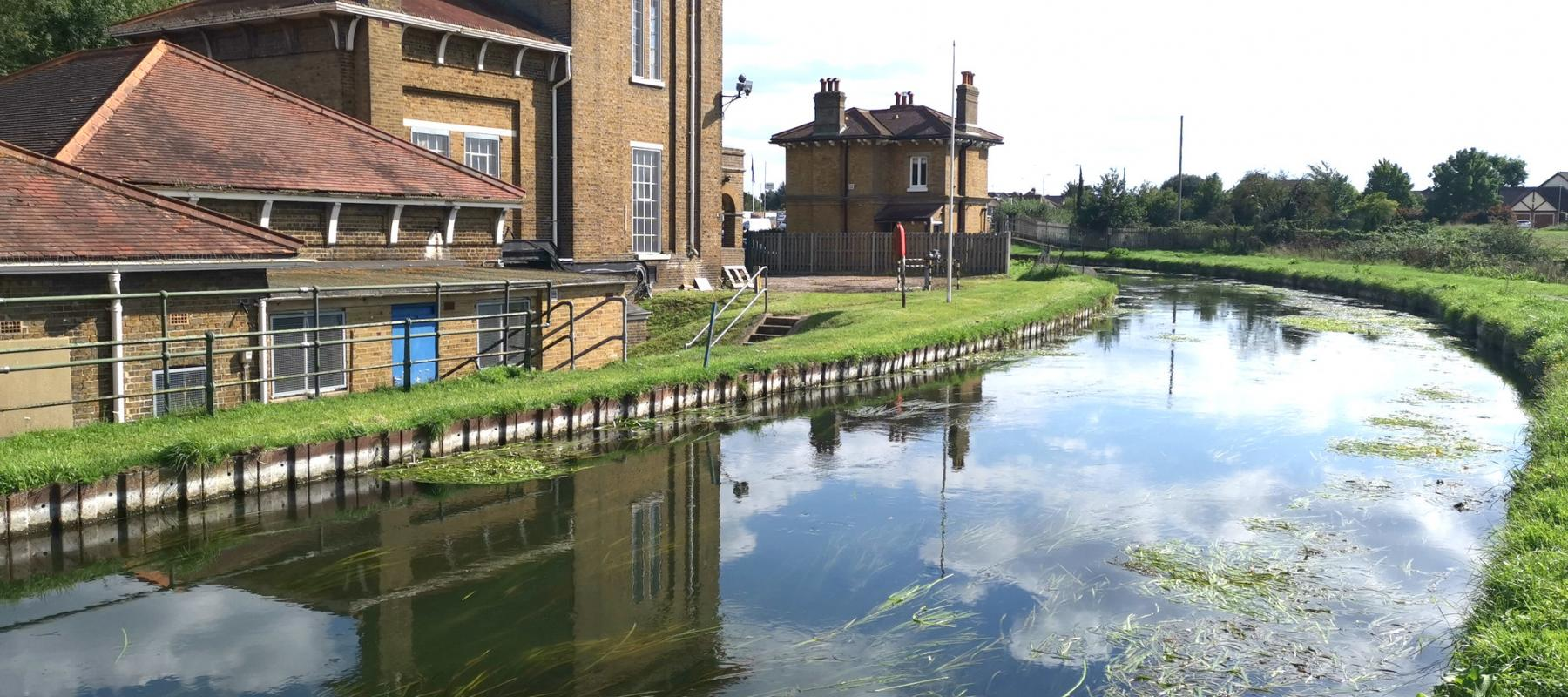 Rye House Victorian pumping station on the banks of the New River Way
