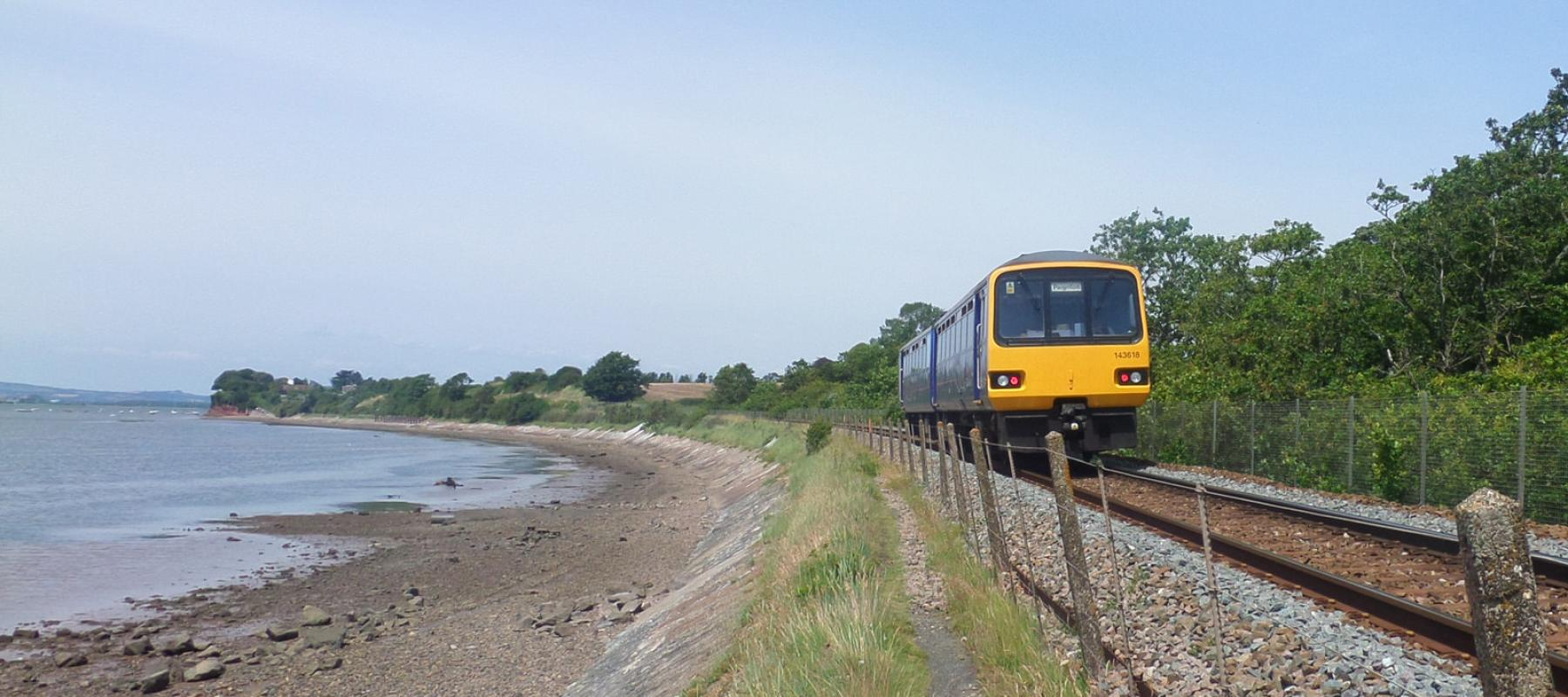 The Avocet Line between Exeter and Exmouth