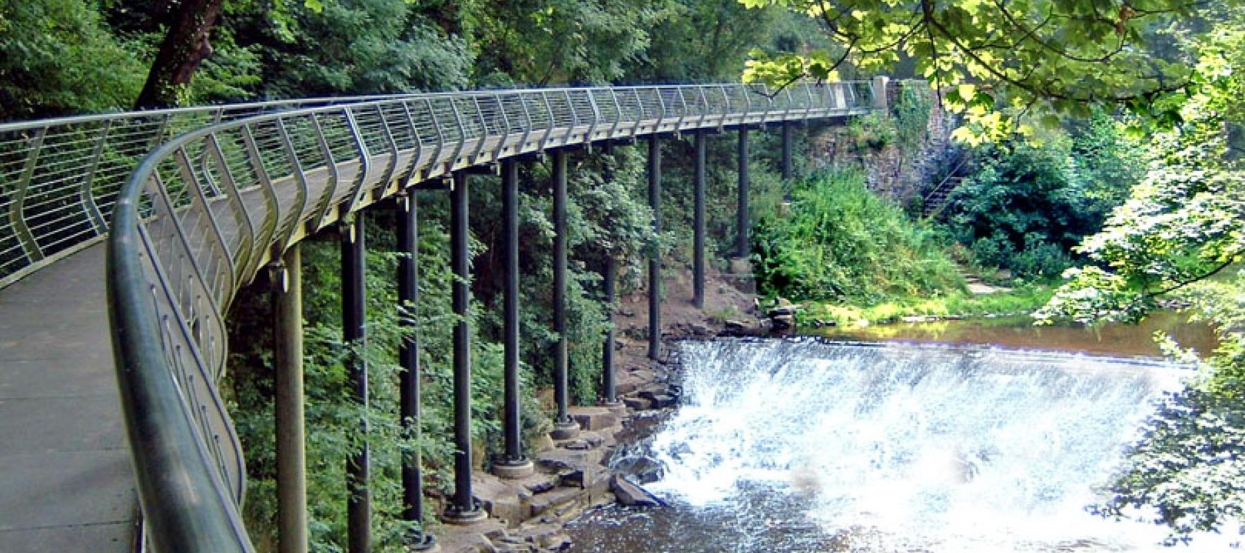 Millenium Walkway at New Mills along the Buxton Line