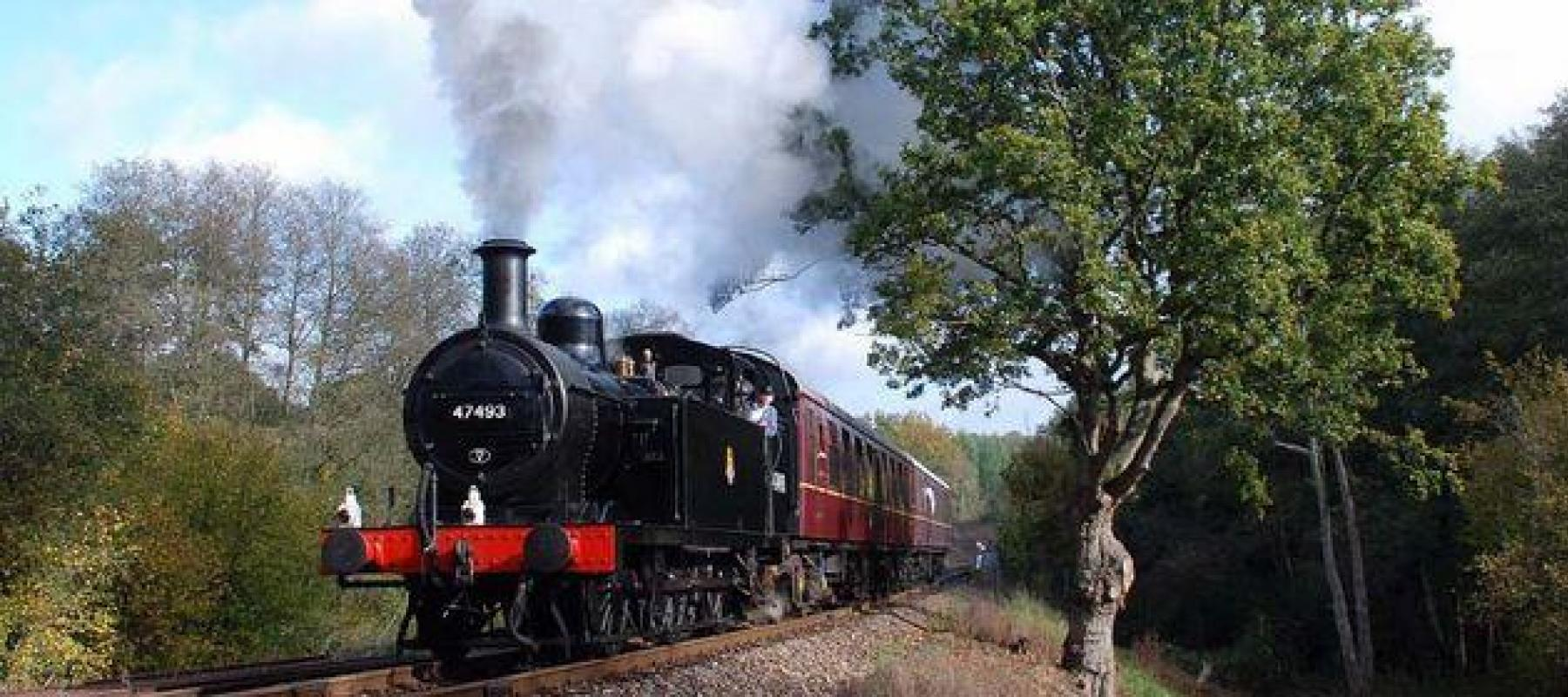 Steam train Spa Valley heritage railway