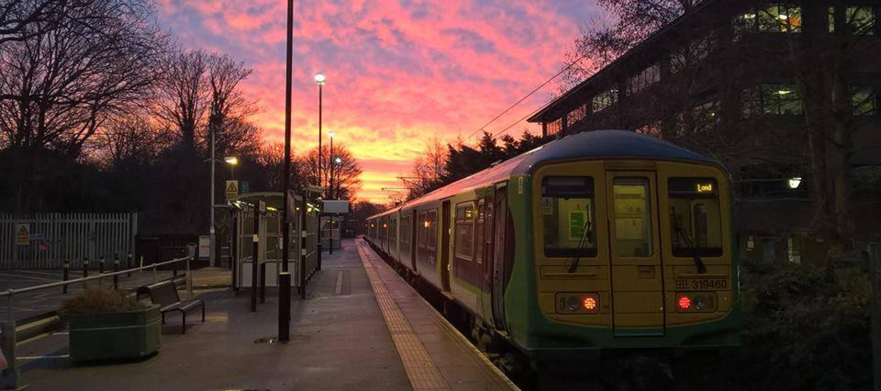 Sunset on the Abbey Line