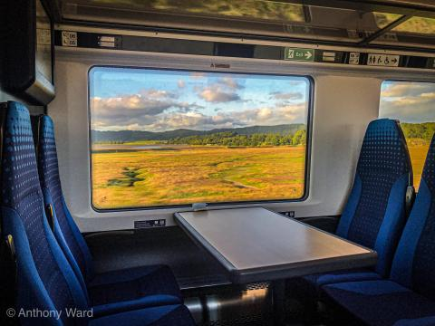 Days out by rail, view from a train window by Anthony Ward