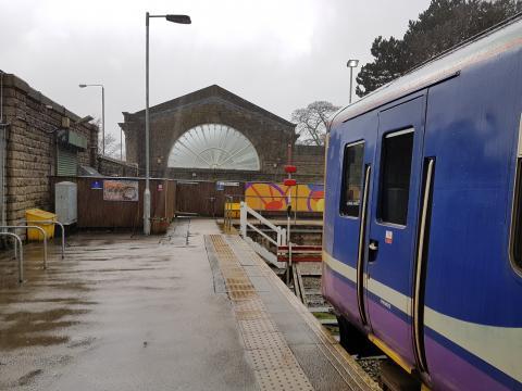 A rainy day at Buxton Station