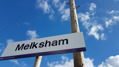 Melksham town sign