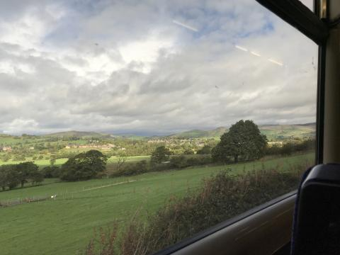 View from the train along the Buxton Line