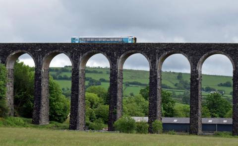 Cynghordy Viaduct along the Heart of Wales Railway Line. Photo: Stephen Miles