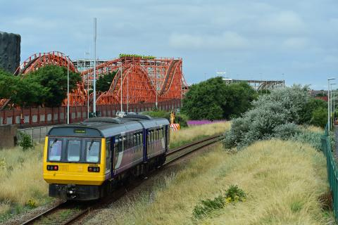 South Fylde Line at Blackpool Pleasure Beach