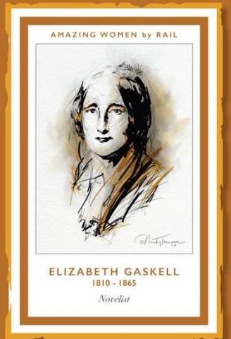 Artist drawing of Elizabeth Gaskell