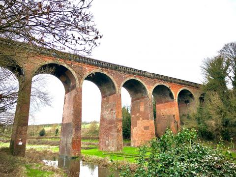 View of Eynsford Viaduct, day out by train along the Darent Valley Line. Photo: Sarah Newman