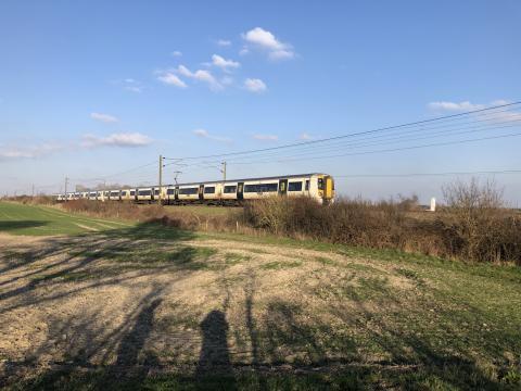 Rhee Valley train in the sunshine