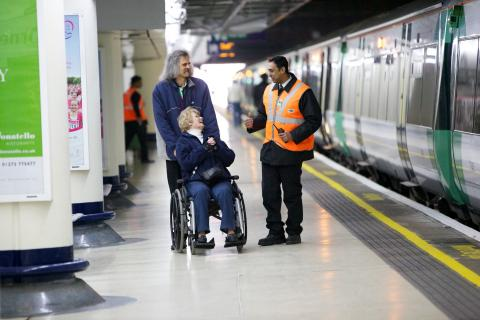Accessibility assitance at the station. Photo: GTR
