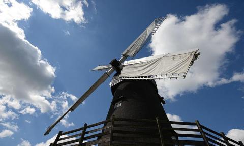 Bursledon Windmill on a sunny day