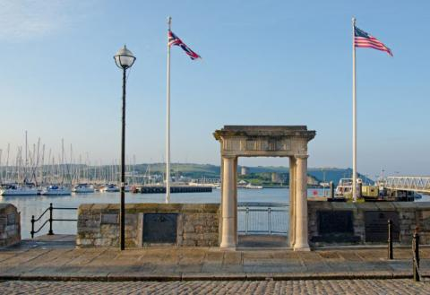 Mayflower Steps in Plymouth, England