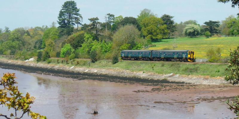 GWR train on the Avocet Line between Exeter and Exmouth