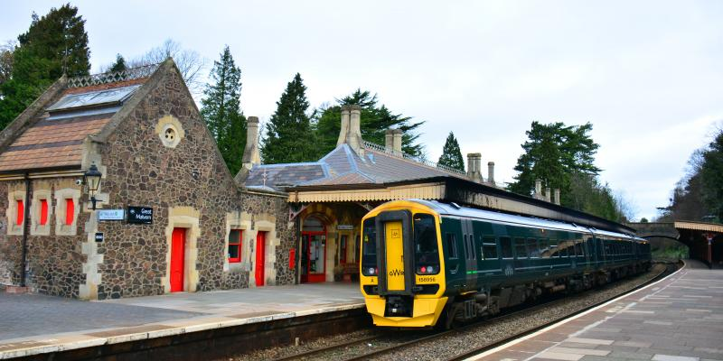 Great Malvern Station along the Cotswold Line