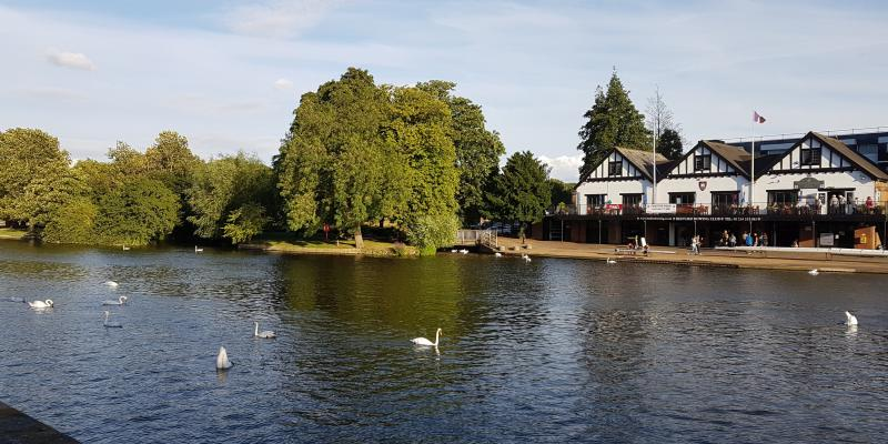 The River Great Ouse in historic Bedford