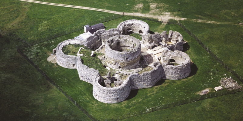 aerial view Camber Castle near Rye