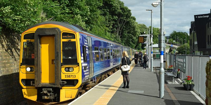 Galashiels Station along the Borders Railway